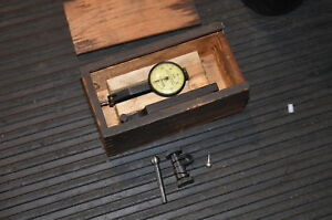 Federal No m 2 Testmaster Dial Test Indicator In A Wooden Case Inv 27053