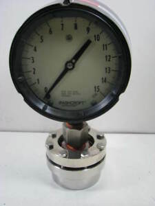 Ashcroft 0 15 Psi Glycerin 4 5 Pressure Gauge W Stainless Seal For 4 Pipe New