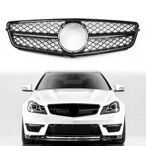 Amg Style New Black Grille Grill For Mercedes W204 08 14 C230 C280 C300 C350