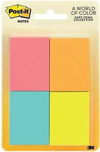 Post it Notes Cape Town Collection 1 Ea pack Of 7