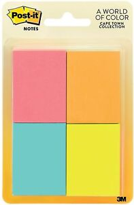 Post it Notes Cape Town Collection 1 Ea pack Of 9