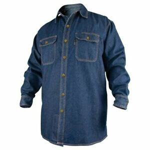 Revco Fs8 dnm denim Fire Resistant Long Sleeve Cotton Welding Shirt