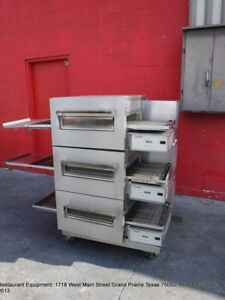 Lincoln Impinger Electric Triple Stack Conveyor Pizza Oven Model 1132