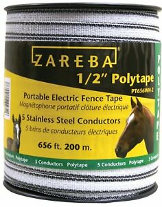 Electric Fence Polytape Wire Portable Tape T post Insulator Greenhouse Corral
