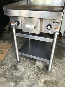 Hobart 24 Inch Electric Flat Griddle On Stainless Steel Stand Works Great