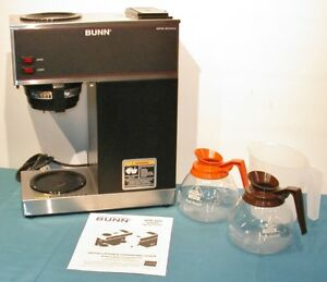 Bunn Vpr Pourover Coffee Brewer Dual Warmers Serviced Cleaned And Sanitized