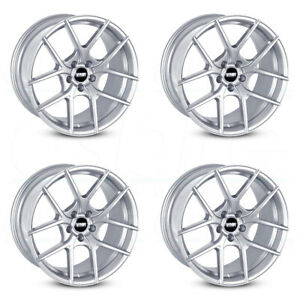19x8 5 Vmr V803 5x112 35 Hyper Silver Wheels Rims Set 4