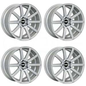 20x9 Vmr V702 5x112 35 Hyper Silver Wheels Rims Set 4