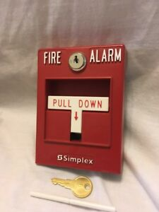 New Simplex 4099 9004 Pull Station Red Fire Alarm With B Key