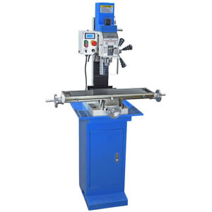 Pm 25mv Vertical Bench Top Milling Machine Stand Varable Speed Free Shipping