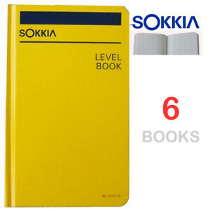 Sokkia 815255 Level Book Set Of 6 six Books