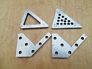 Machinist Flat Angle Blocks Lot Of 4