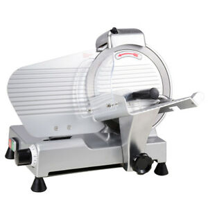 10 In Commercial Stainless Steel Blade Electric Meat Slicer Food Cutter