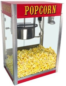 Theater Pop 8 Oz Popcorn Machine Maker Popper Kernel Commercial Electric Kettle