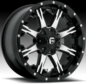 Fuel D541 Nutz Machined Black 20x9 8x180 20mm d54120901857