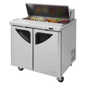 Turbo Air Tst 36sd n6 Super Deluxe 2 door 36 In Sandwich Prep Table