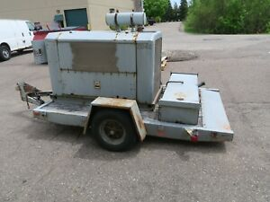 35kw Diesel Generator 120 240 Volt 1 3 Phase 1130 Hours Libby Trailer Mounted