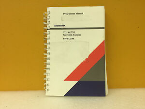 Tektronix 070 8132 01 2711 2712 Spectrum Analyzer Programmer Manual