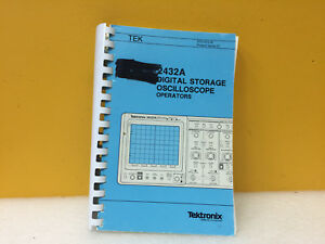 Tektronix 070 7272 00 2432a Digital Oscilloscope Operators Manual