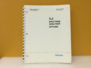 Tektronix 070 2155 03 7l5 Spectrum Analyzer Instruction Manual