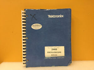 Tektronix 070 3831 00 2465 Oscilloscope Service Instruction Manual