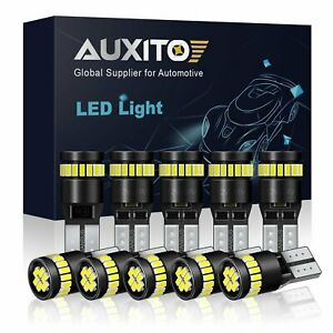 Auxito 10x T10 194 Led Light Bulb 168 3014 White Super Bright Canbus No Error