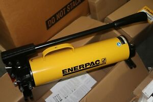 New Enerpac Scl1002h Hydraulic 100 Ton P80 2 Speed Steel Hand Pump Cylinder Set