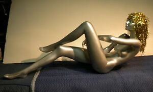 Mannequin Female Reclining Silver