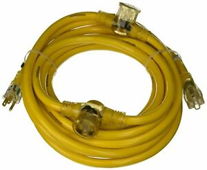 Yellow Jacket 2830 12 3 Heavy duty 15 amp Sjtw Contractor Extension Cord New