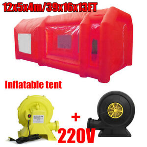 39x16x13ft Inflatable Spray Paint Booth Custom Tent Car Filtration System Fan