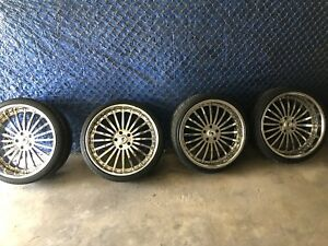 4 Asanti 22 Chrome Staggered Rims And Tires 5 Lug Off Bmw 6 Series Nyc Pick Up