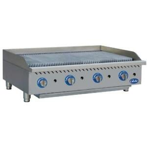 Globe Gcb48g cr 48 Radiant Gas Charbroiler Grill