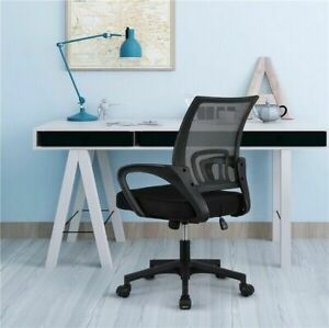 Ergonomic Office Stools 360 Swivel Computer Chair Black Mid back Mesh