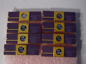 Qty 8 ti Tms320e15jdl Vintage Eprom Dsp Ic Chip Gold Finished