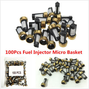 100pcs New Fuel Injector Micro Basket Filter For Asnu03c Injector Repair Kits