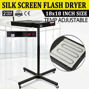 Adjustable Height 18 X18 Flash Dryer Silkscreen T shirt Screen