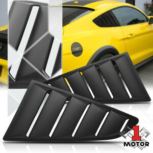 Black 1 4 Quarter Side Window Louvers Scoop Cover Vent For 15 18 Ford Mustang
