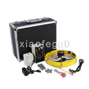 7 Lcd 30m Sewer Updated Camera Pipe Pipeline Drain Inspection Snake Cam 8gb Dvr
