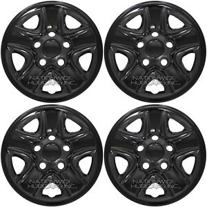 Set 4 Fit 2007 2018 Toyota Tundra 18 Black Wheel Skins Hub Caps Full Rim Covers
