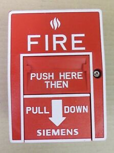 Siemens Hms d Addressable Red Manual Pull Station Fire Alarm Dual Action