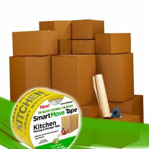 Moving Boxes 1 Room Bigger Moving Kit 14 Boxes Plus Supplies Tape W