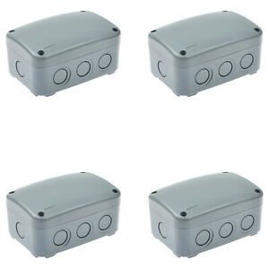 4pk Waterproof Junction Box Cable Switch Connector Enclosure Case Ip66 9 pole