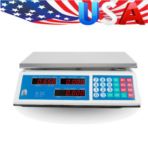 66lbs Digital Weight Scale Price Computing Retail Food Meat Scales Count Scale A