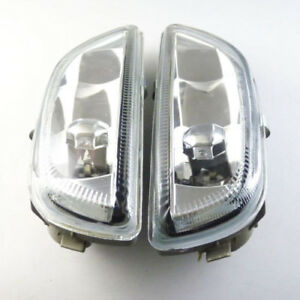 For 2001 02 Toyota Corolla 8122002030 Pair Clear Front Bumper Driving Fog Light