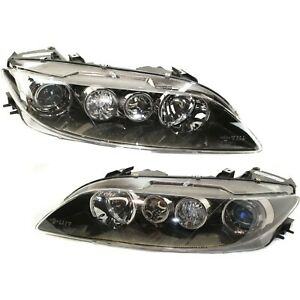 Headlight Set For 2006 2007 2008 Mazda 6 Left And Right Standard Type 2pc