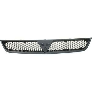 Grille For 2008 Mitsubishi Lancer Silver Shell W Black Insert Plastic