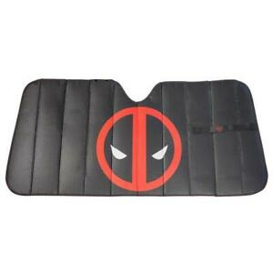 Marvel Deadpool Logo Front Car Truck Suv Windshield Sunshade Cover
