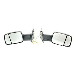 Tow Mirror Set For 2002 2009 Dodge Ram 1500 Left Right Power Heat Corner Glass