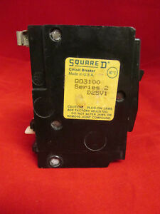 Square D Cat Qo3100 3 Pole 100 Amp Breaker series 2 D25v1
