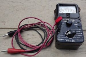 Simpson Electric Co Model 230 Volt Ohm Milliammeter With Original Leads Usa